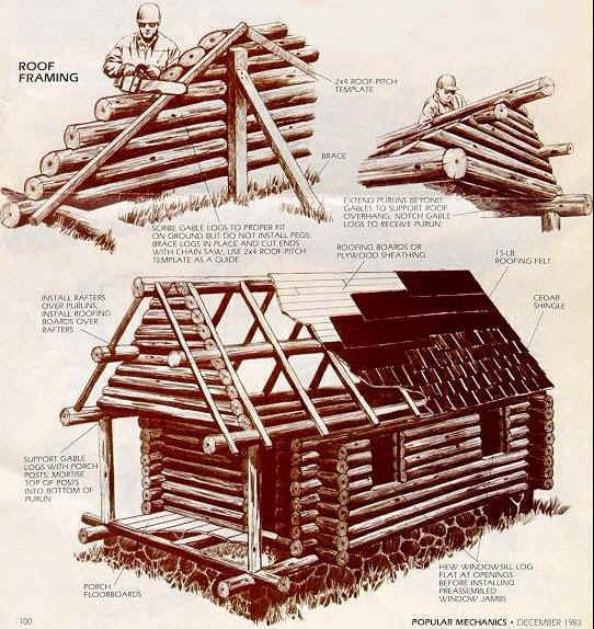 Build your own tiny log cabin for How to build a cabin floor