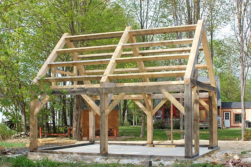 Tiny timber frame houses tiny house blog for Small timber frame home plans