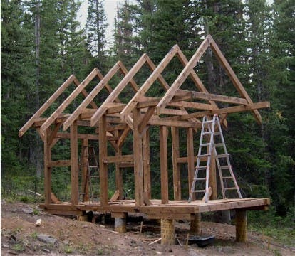 Small timber frame cabin kits quotes for Small timber frame cottage