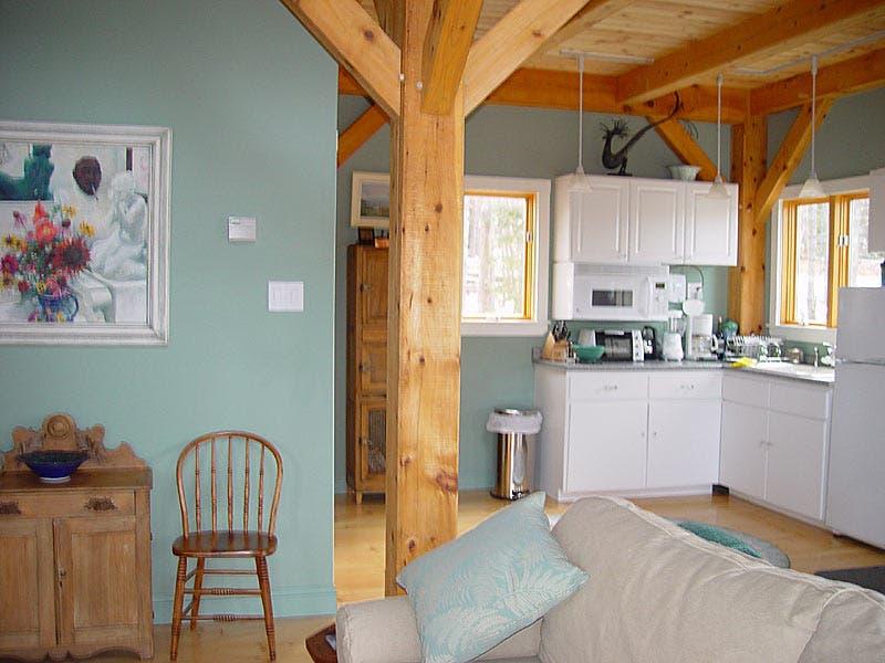 Timber frame cottage for Small timber frame cottage