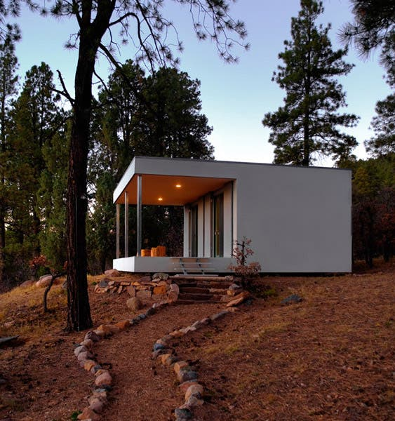 Minimalist Cabin Covered With Stone From Ruins
