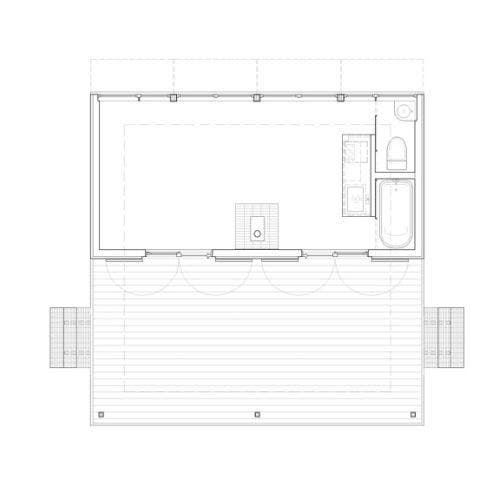 Stick Built Homes Floor Plans: Williams Minimalist Cabin