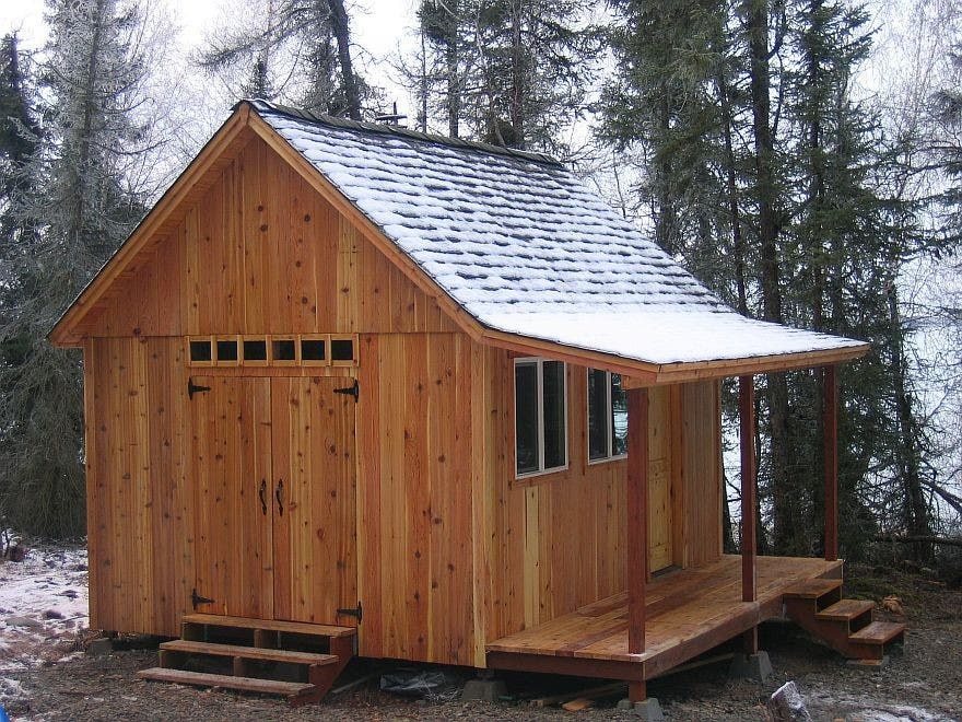 Better barns cabin for Barn cabin plans