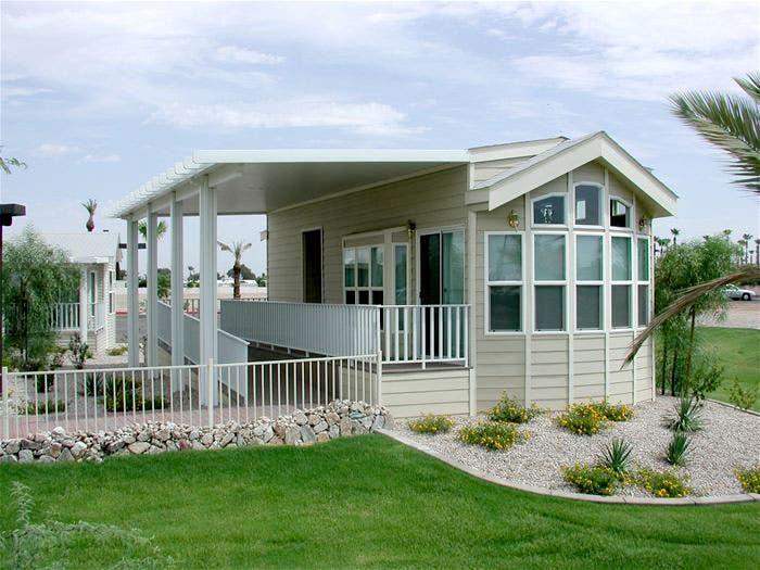 Park model summer cottage for Small model homes