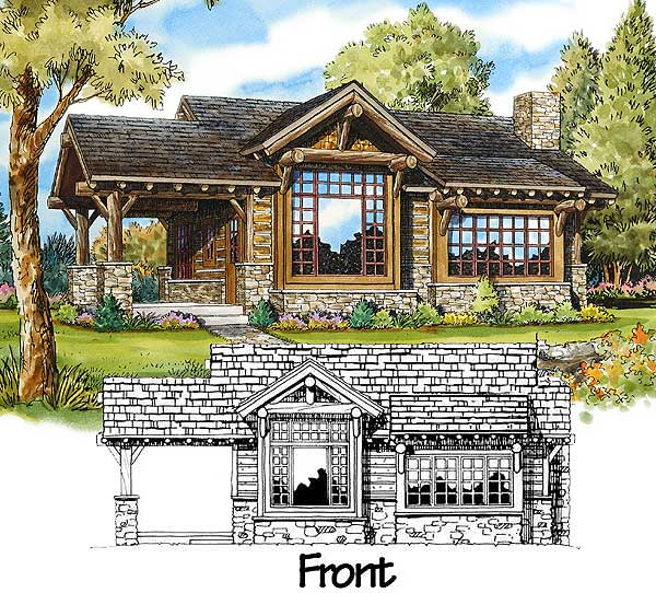 Stone mountain cabin plans for Mountain cottage home plans