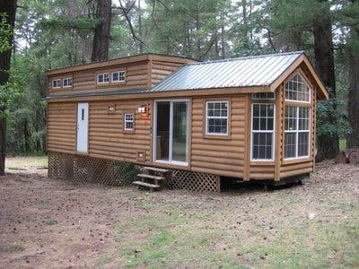 Sale Houses on Tiny House Blog   Archive Park Model Log Cabin For Sale