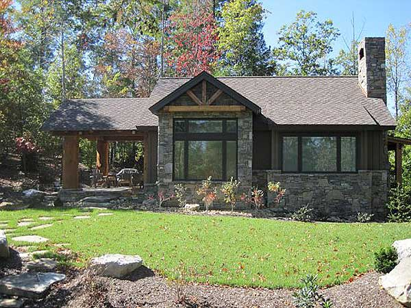 Stone mountain cabin plans for Weekend cottage plans