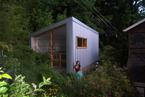 Tiny house in portland for Foundation tiny house builders