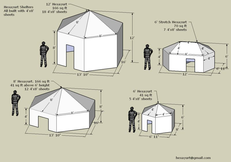 The hexayurt tiny house blog Yurt house plans