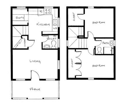 Home petite home for Tumbleweed floor plans