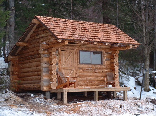 Adirondack cabin - How to build a small cabin ...