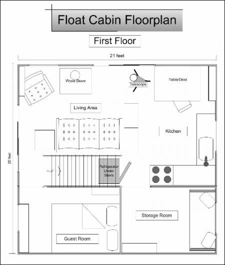ลอย floorplan Cabin