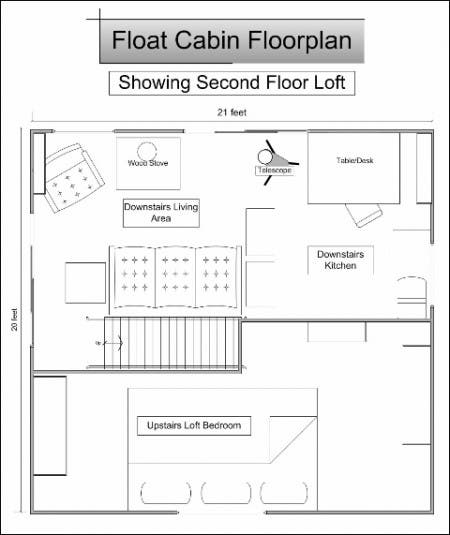 Float Cabin Loft Plan