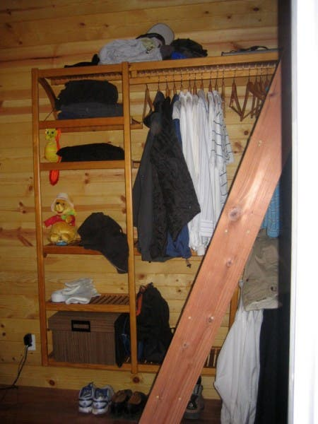 Open Closet and Ladder