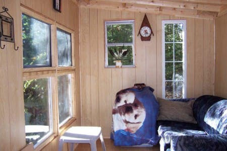 The Small Cabin interior
