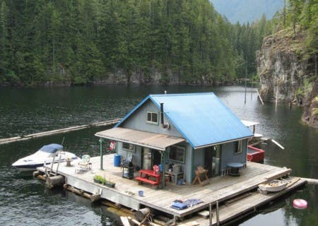 The Lutz's Floating Cabin