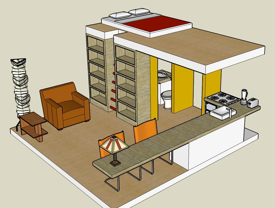 Google sketchup 3d tiny house designs for Google house design