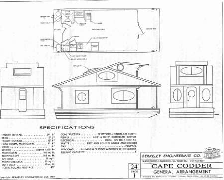 Cape codder the ultimate tiny floating home for Floating home floor plans