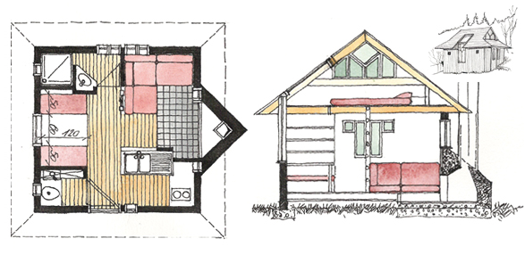 little cabin in france rh tinyhouseblog com little red cottage plans little cottage plastic playhouse