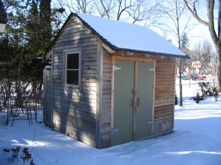 Garden Shed with Exterior Shower