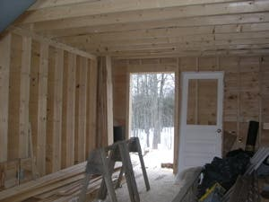 snow tiny house inside
