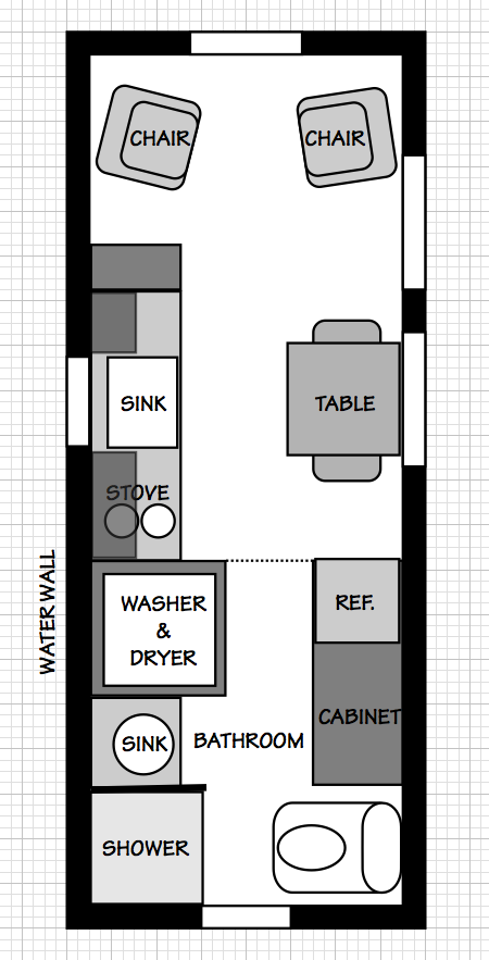 Michael 39 s tiny simple house Simple house floor plans