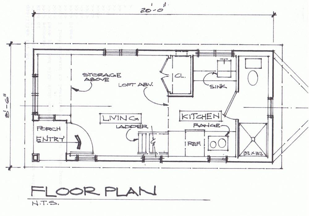 First Floor Plan of Cottage Traditional House Plan 61422 FrontEntry