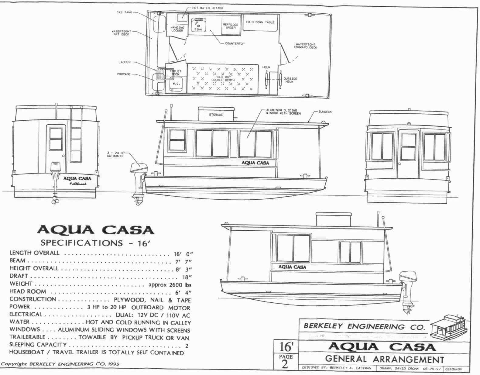 Aqua Casa Houseboat on 8 X 16 Tiny House Floor Plans