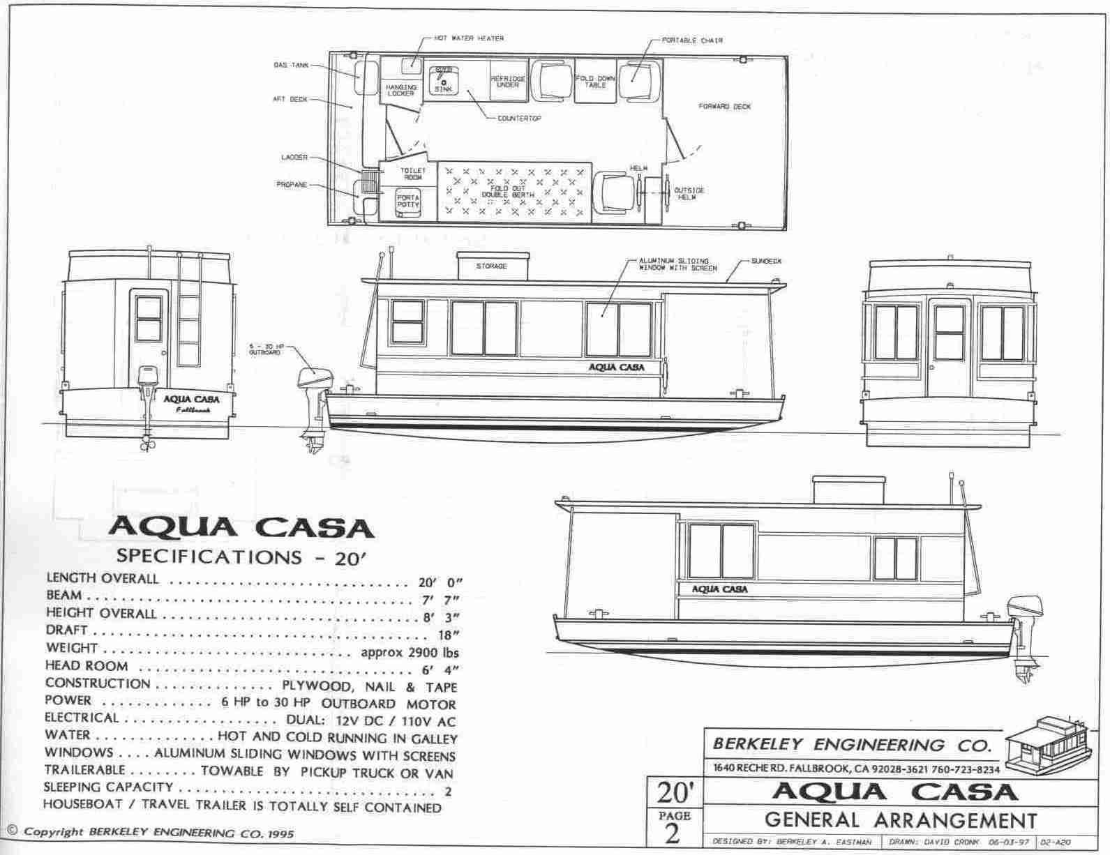 Aqua casa houseboat for Boat house designs plans