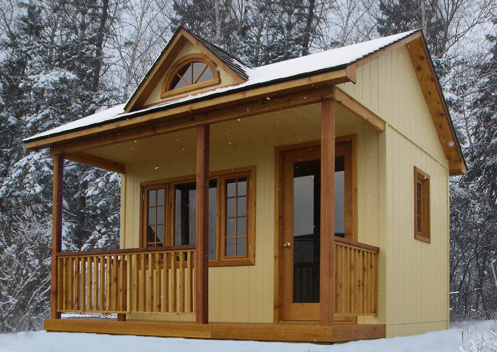 Prefab cabin bunkies joy studio design gallery best design for Cottage house kits