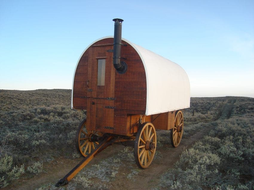 old western wagons - Sheep Wagon