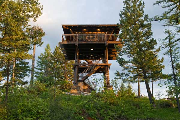Fire lookout towers for Fire tower cabin plans