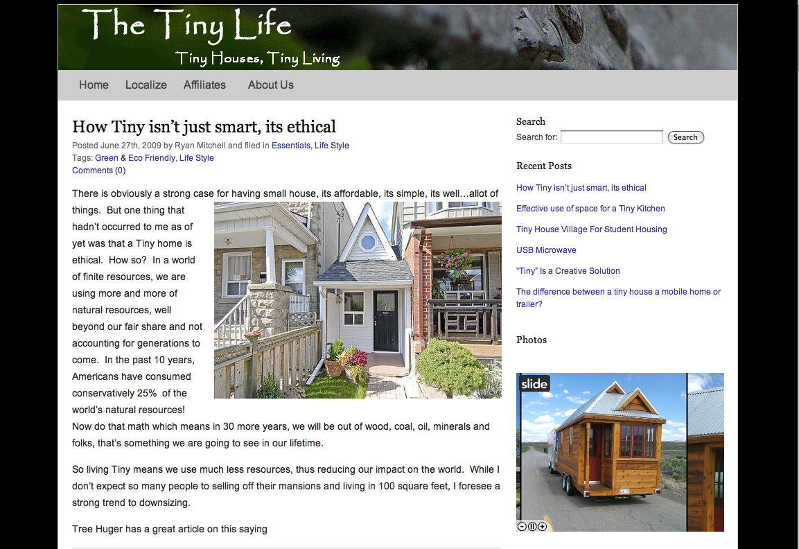 I Want To Take A Moment And Extend A Welcome To Ryan Mitchell Who Will Be  Presenting His Thoughts And Experiences As He Joins The Tiny House Movement  With ...