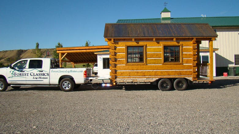 how to build a log home by hand