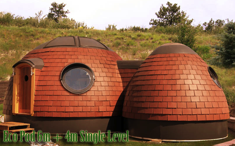 energy efficient eco pod home art