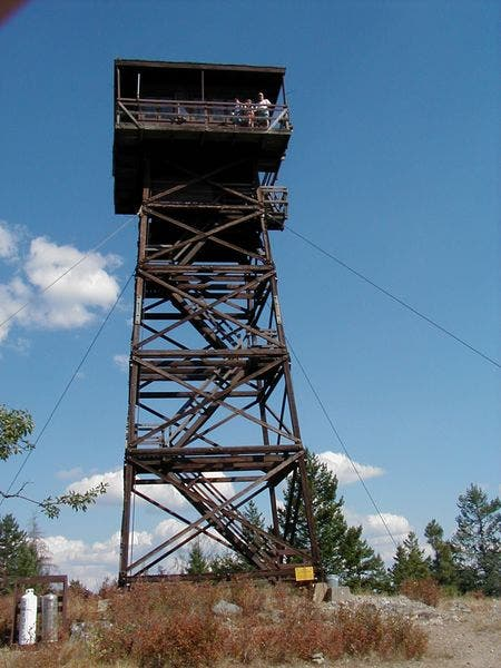 Swede Mountain Lookout Tower in Libby, MT