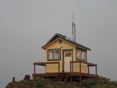 Yellow Peak Lookout Tower in Northwestern Nevada