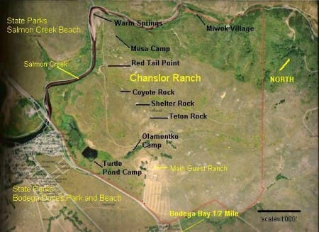 Map of the Chanslor Ranch