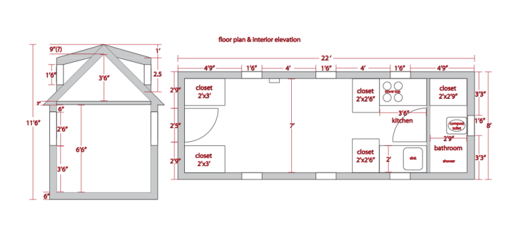 Floor plan tiny house blog for Stick built home plans