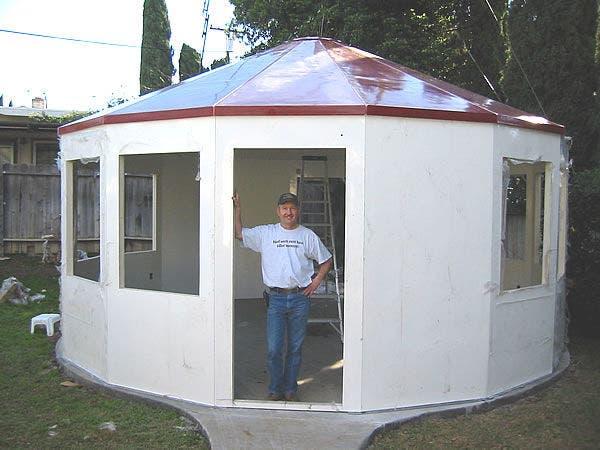 Alternative building 39 s fiberglass yurt for Building a permanent tiny house