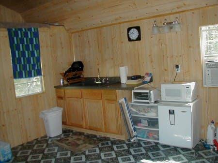 A small kitchenette has been added.