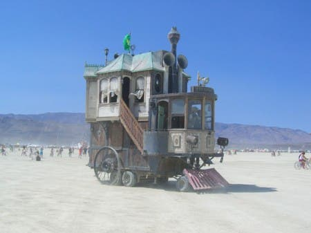 The Neverwas Haul, one of the best known mutant vehicles on the Playa
