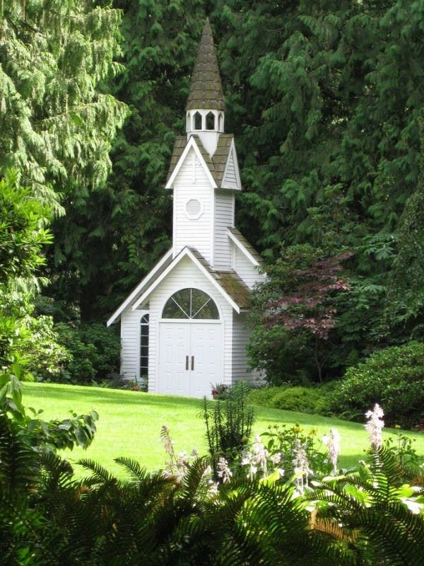 Church in Minter Gardens, BC, Canada