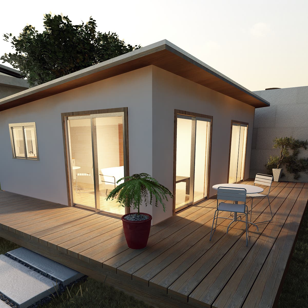 The p pod for Exterior design of small houses