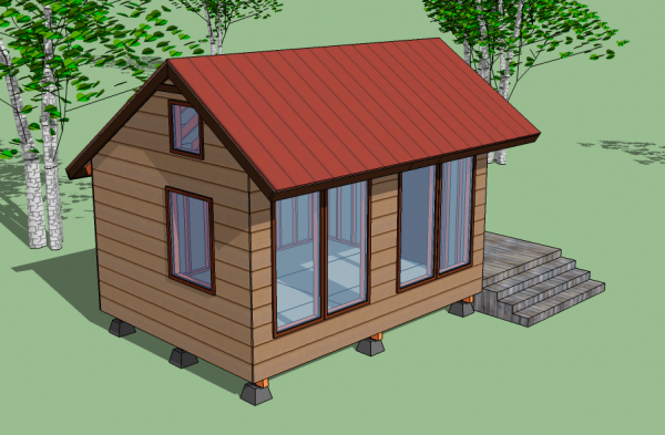 Tiny solar house for Small solar home plans