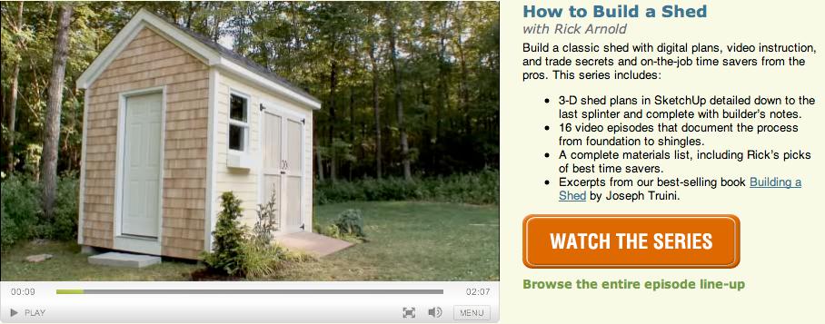 Building a shed fine homebuilding for Finehomebuilding com houses