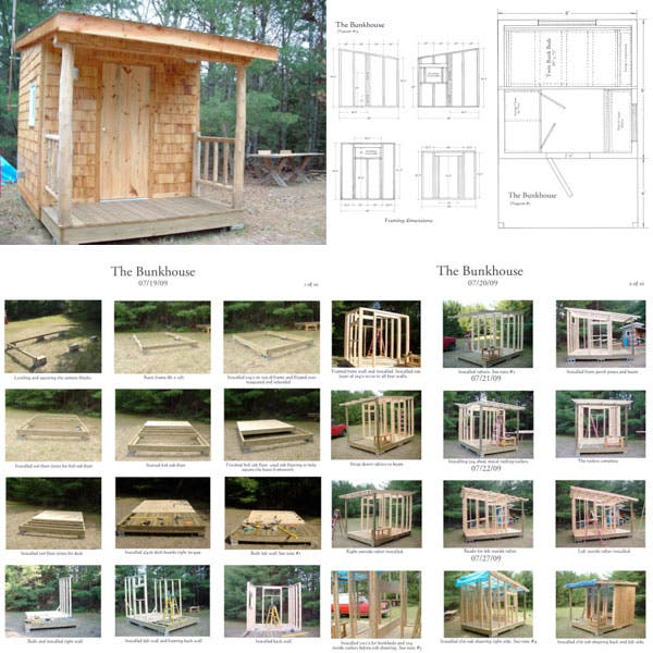 The Little Bunkhouse in the Woods Plans