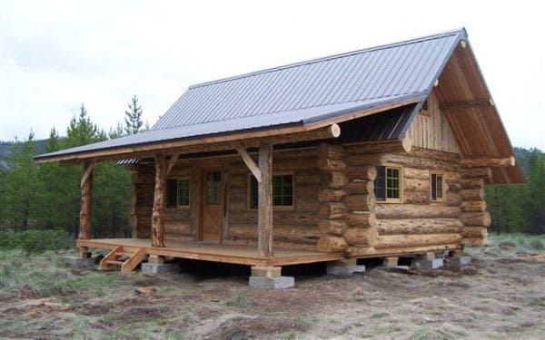 Montana mobile cabins marion for Cost of building a house in montana