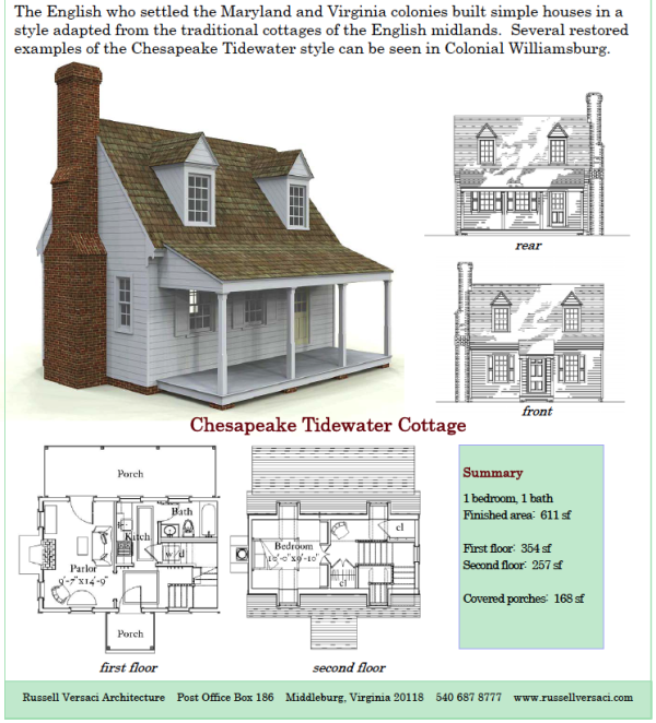 Russell versaci 39 s simple cottage plans for Tidewater house plans