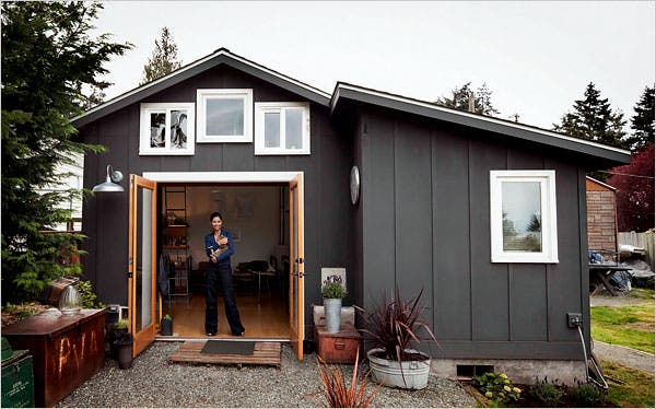 Michelle De La Vega, A Visual And Performance Artist, Turned Her Garage Into  A 250 Square Foot House For $32,000.